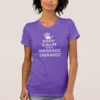 Massage T-Shirt: Keep Calm, Massage Therapist T-Shirt