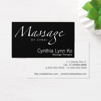 Massage Text Business Card