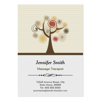 Massage Therapist Appointment - Elegant Natural Pack Of Chubby Business Cards