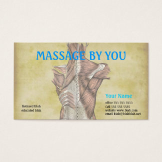 Medical business cards zazzlecomau for Massage therapy business card templates