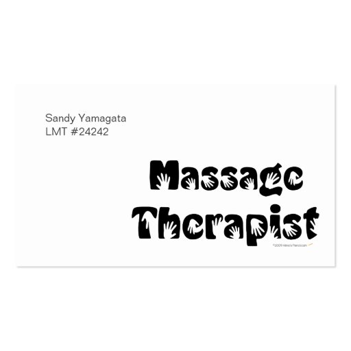 Massage Therapist Business Cards Template