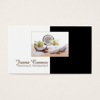 Massage Therapist Coconut Candle Relax Card