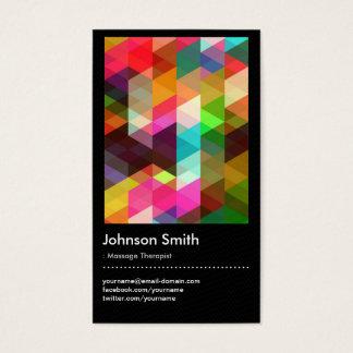 Massage Therapist - Colorful Mosaic Pattern Business Card