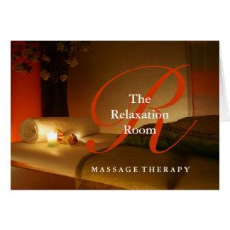 Massage Therapist Customizable Thank You Card