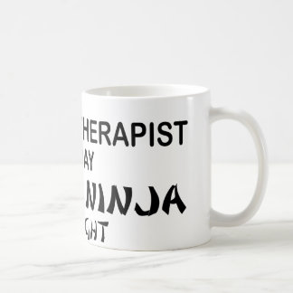 Massage Therapist Deadly Ninja by Night Basic White Mug
