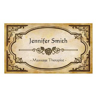 Massage Therapist - Elegant Vintage Antique Business Cards