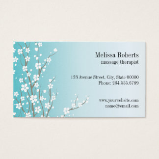 Massage Therapist Floral Business Card
