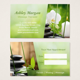 Massage Therapist Meditation Salon Appointment Business Card