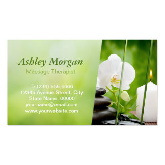 Massage Therapist Meditation Salon Appointment Pack Of Standard Business Cards