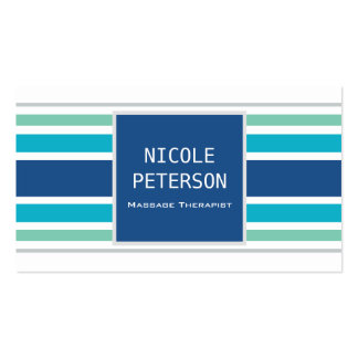 Massage Therapist - modern cool stripes Pack Of Standard Business Cards