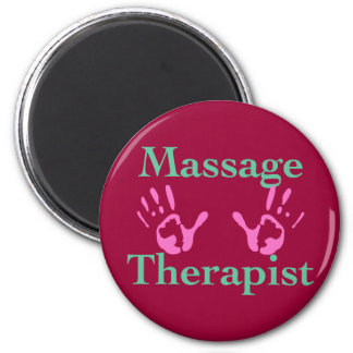 Massage therapist: Pink hand prints Magnet