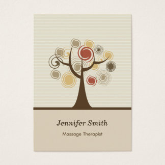 Massage Therapist - Stylish Natural Theme Business Card