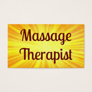 Massage Therapist Sunshine Business Card