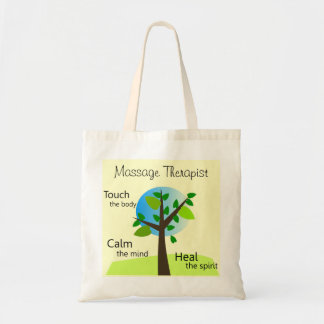 Massage Therapist Tote Bags Tree Design