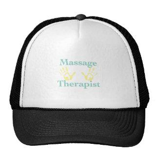 Massage Therapist: Yellow Hand Prints Cap
