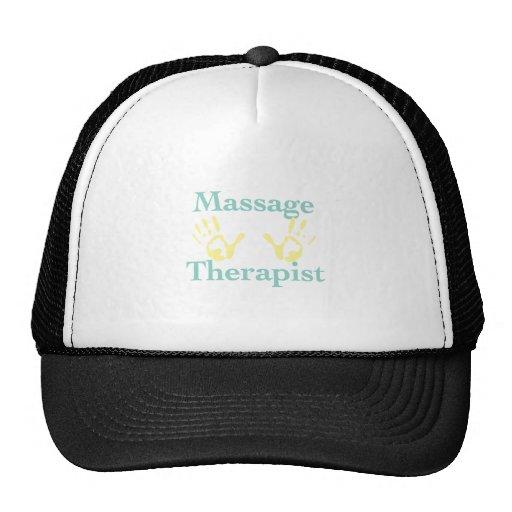 Massage Therapist: Yellow Hand Prints Hat