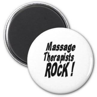Massage Therapists Rock! Magnet
