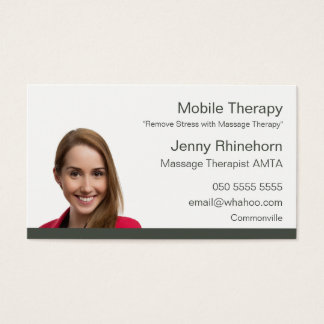 Massage Therapy 2 Sided Portrait Name Card