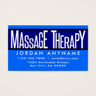 Massage Therapy Blue Business Card