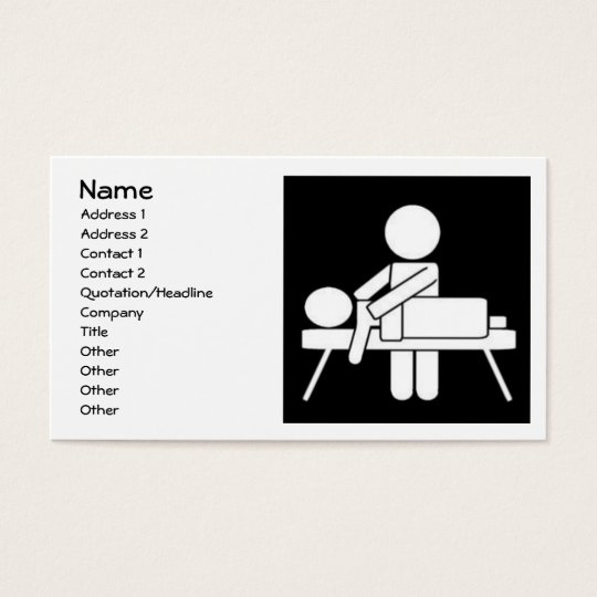 Massage Therapy Business Card