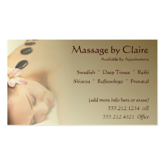 Massage Therapy Business Card Business Cards
