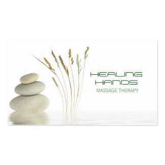 Massage Therapy Healing Arts Skin Care Business Business Card Template