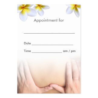 Massage Therapy Plumeria Flowers Salon Appointment Pack Of Chubby Business Cards
