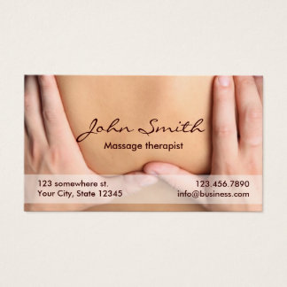 Massage Therapy Professional Therapist Appointment Business Card