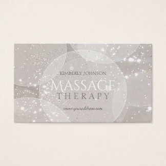 Massage Therapy Shining Star Grey Bubble Card
