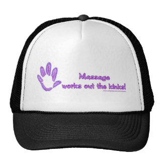 Massage Works Out the Kinks Hats
