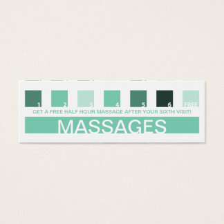 MASSAGES customer appreciation (mod squares) Mini Business Card