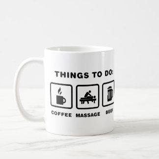 Massaging Basic White Mug