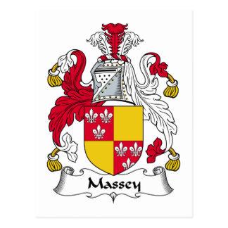 Massey Family Crest Postcard
