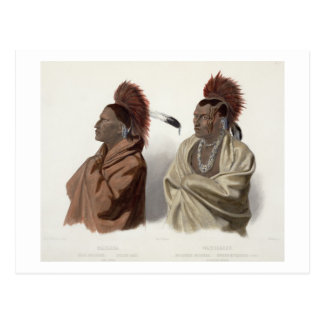 Massika, a Saki Indian, and Wakusasse, a Musquake Postcard