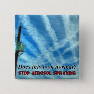 Massive Chemtrail Grid 15 Cm Square Badge
