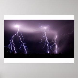 Massive Lightning Strike Poster