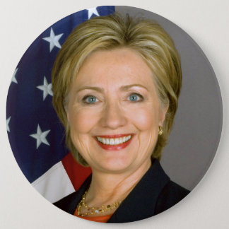 Massive-sized Hillary Clinton Button