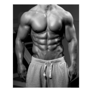 Massive Torso Gym Wall Poster