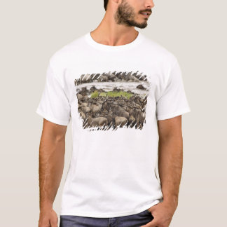 Massive Wildebeest herd during migration, T-Shirt