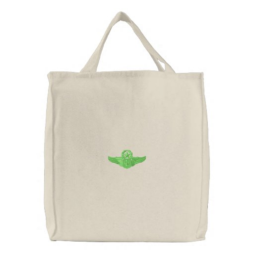 Master Airman Wings Embroidered Tote Bag