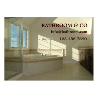 master bathroom large business cards (Pack of 100)