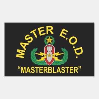 Master Blaster Rectangular Sticker