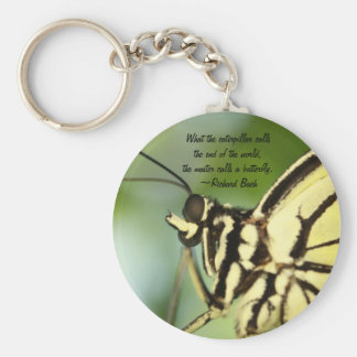 Master Butterfly Photo and quote Key Chains