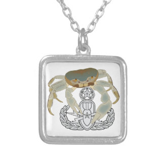Master EOD Crab Silver Plated Necklace