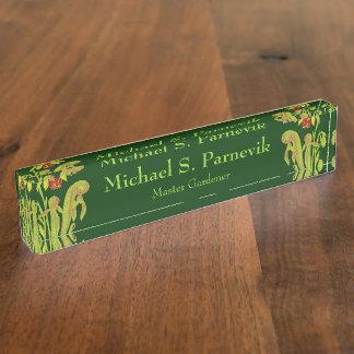 Master Gardener Carnivorous Plant Botanical Nameplate