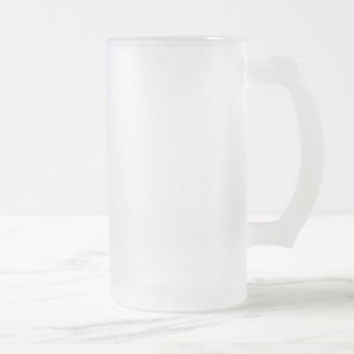 Master Gobler Frosted Glass Beer Mug