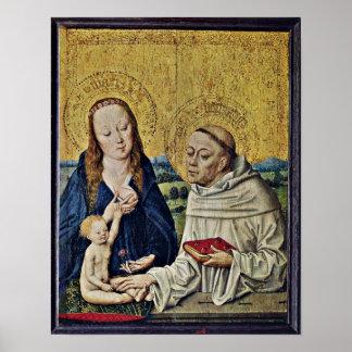 Master Life of Mary - Madonna with St Bernard Print
