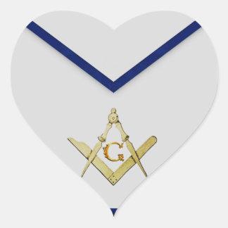 Master Mason Apron Heart Sticker