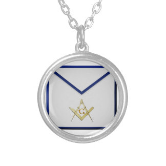 Master Mason Apron Silver Plated Necklace