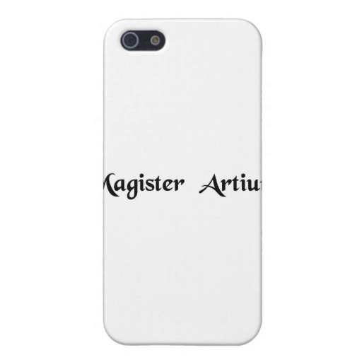 Master of arts iPhone 5 cover